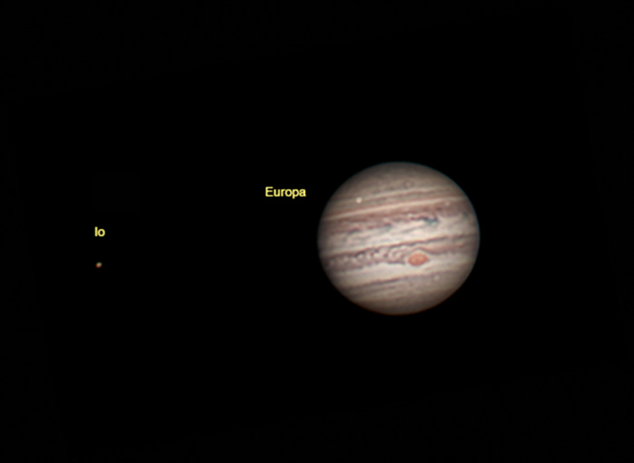 Jupiter with moons